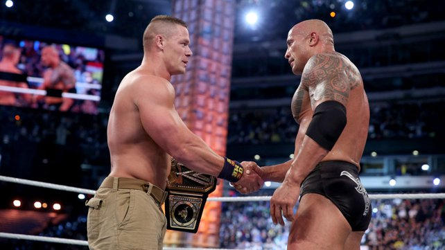 The Rock vs John Cena WrestleMania