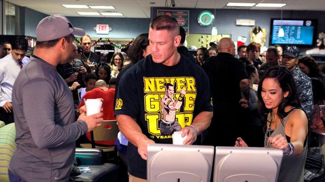 WWE John Cena and AJ Lee