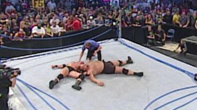Goldberg Vs Big Show Ring Collapse