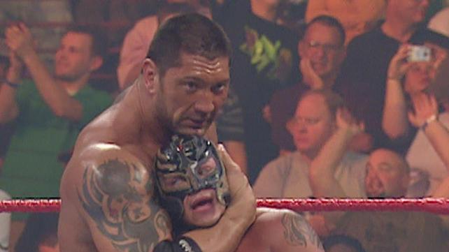 Rey Mysterio, Batista and Lashley vs. Finlay, William ...