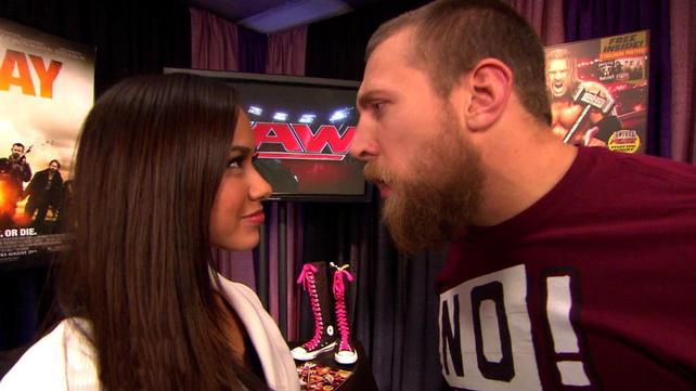 Wwe Aj Lee And Daniel Bryan Kiss Raw gm aj lee announces danielWwe Aj Lee And Daniel Bryan