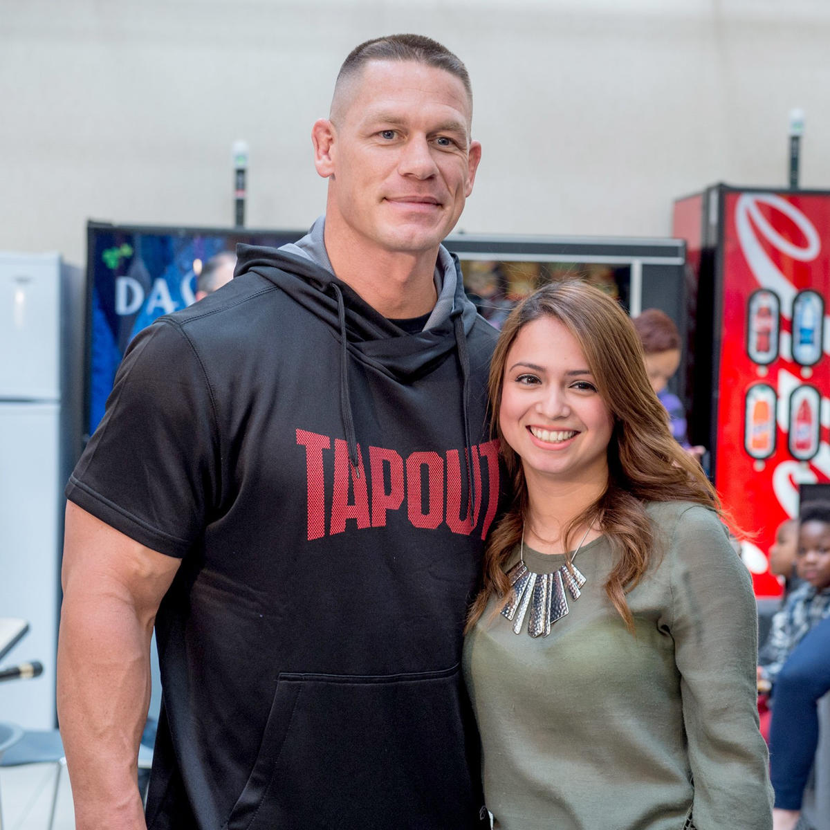 Cena introduces tapout performance collection at dallas jcpenney tapout brand ambassador john cena meets members of the wwe universe kristyandbryce Choice Image