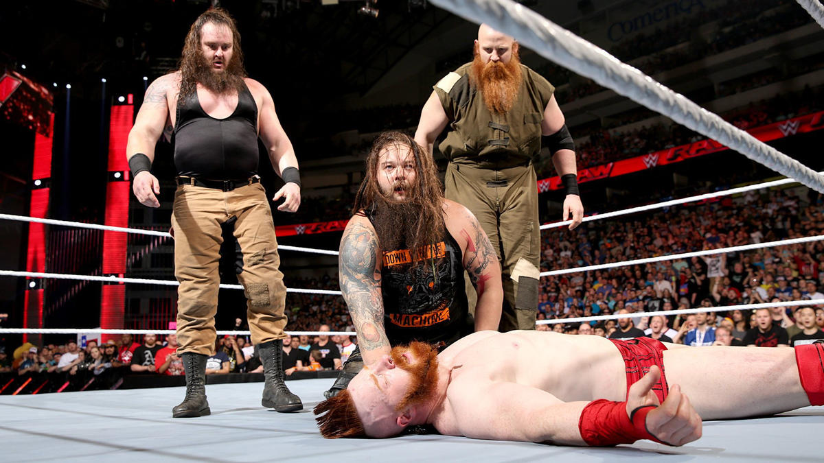 After Bray Wyatt hits Sheamus with Sister Abigail, the WWE Universe erupts in chants of 'Thank you, Wyatts.'