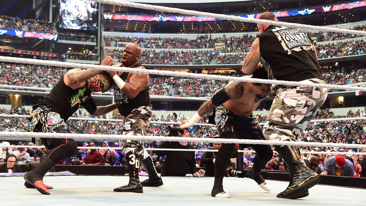 Bubba Ray & D-Von ambush The Usos at the opening bell.
