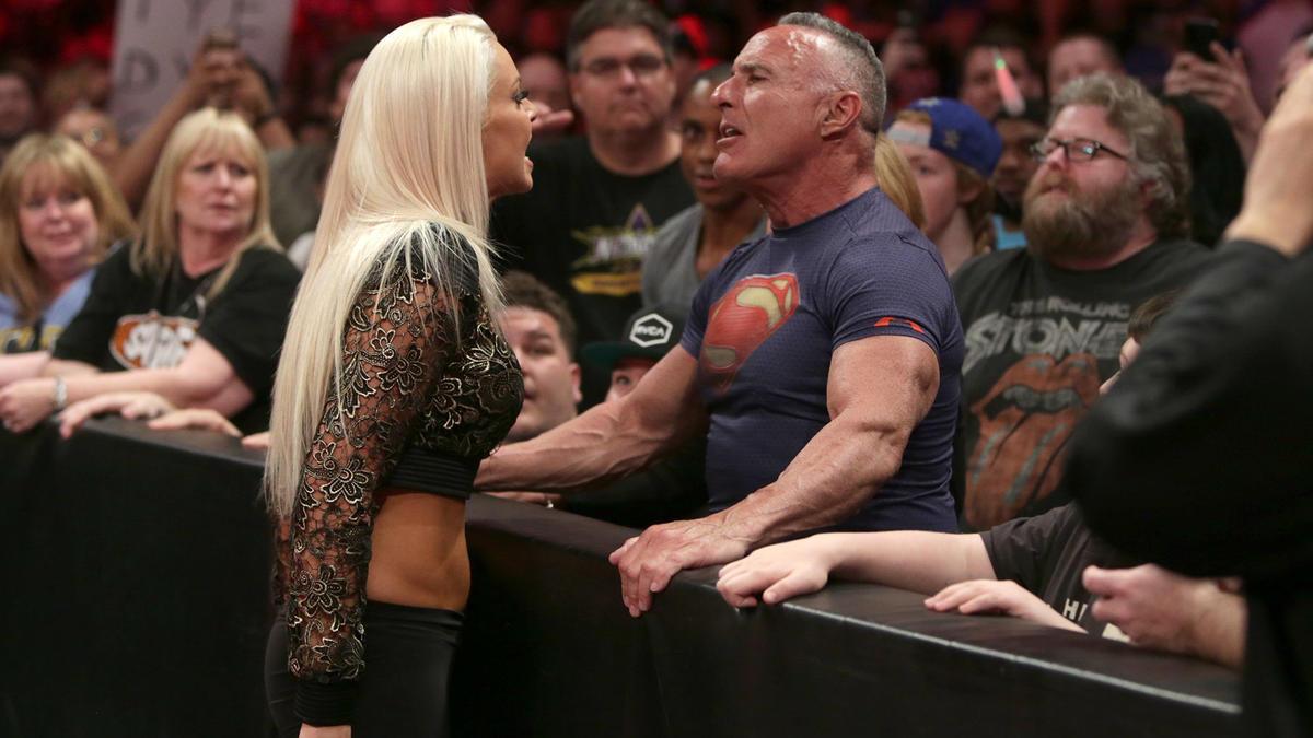 Miz's wife, former WWE Diva, Maryse gets in Mr. Ryder's face...