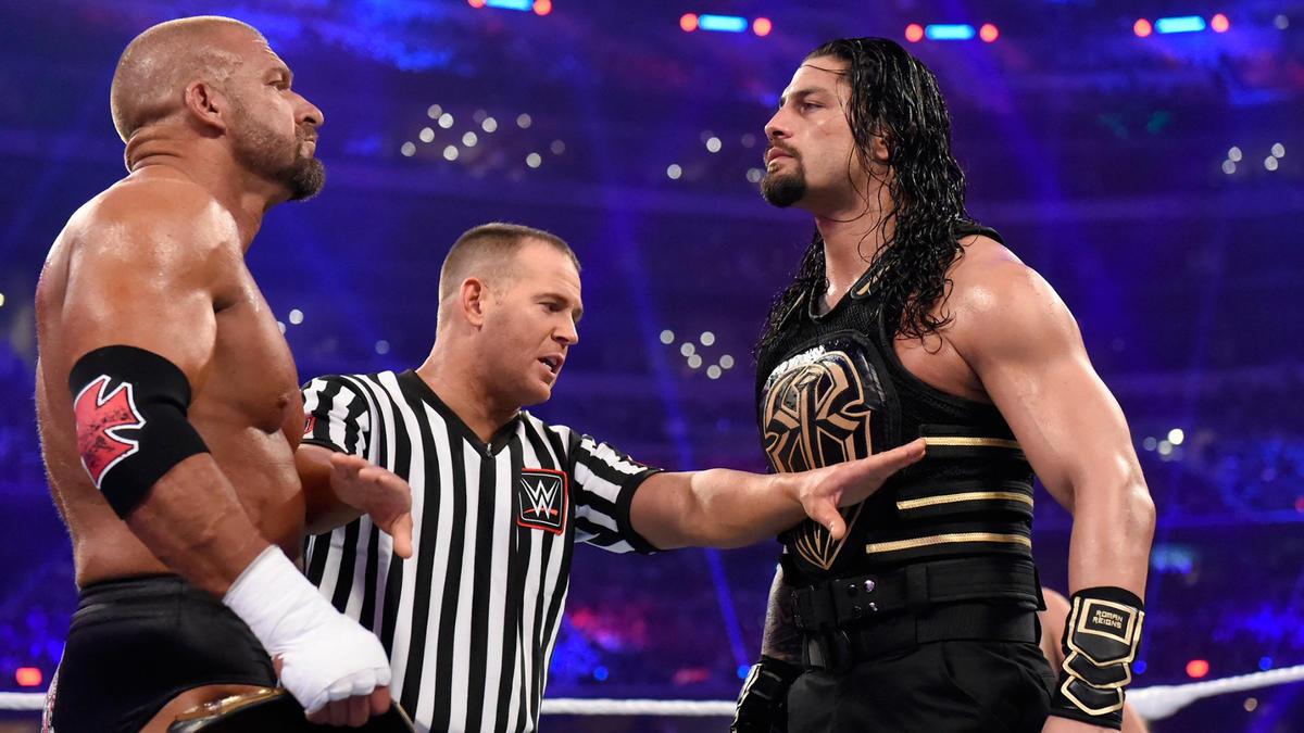 Triple H vs. Roman Reigns - WWE World Heavyweight Championship ...