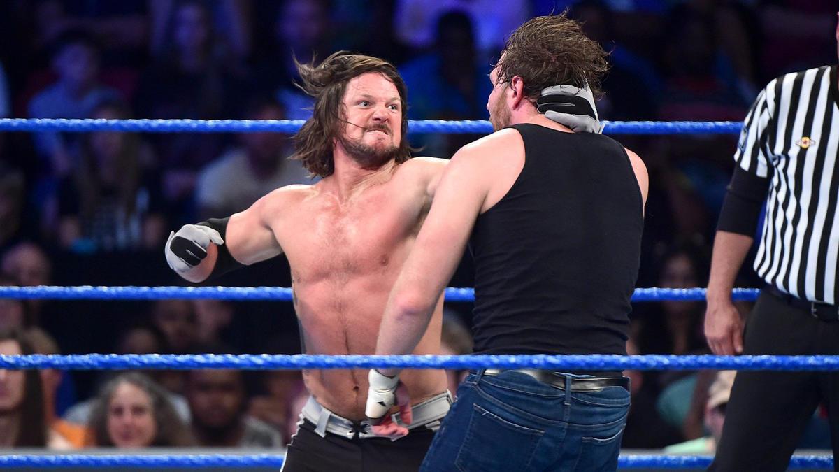 Image result for WWE Backlash 2016 wwe.com Dean Ambrose vs AJ Styles
