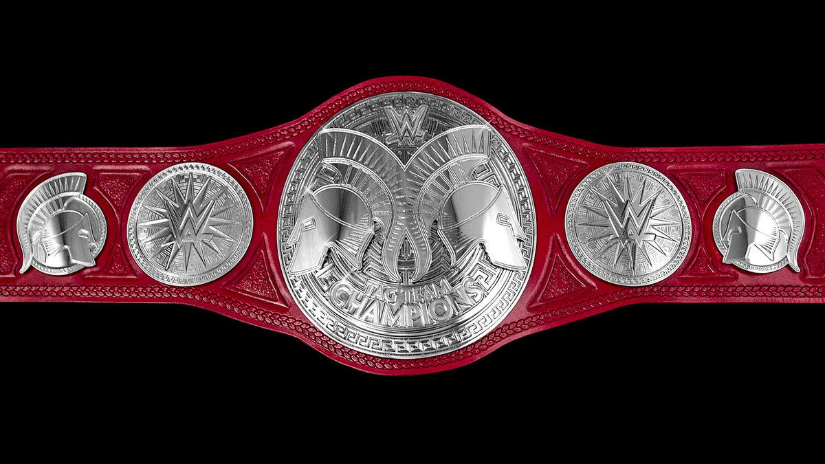 An up-close look at the all-new Raw Tag Team Championships
