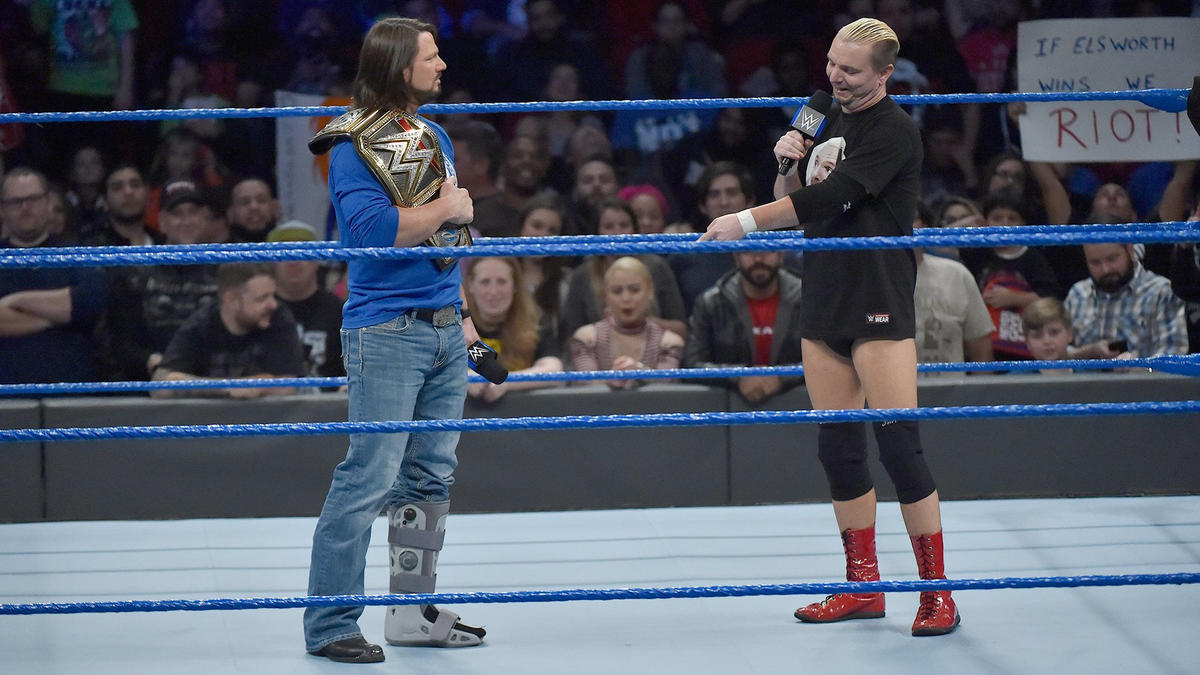 """""""Do you really need that boot or is it just a convenient way for you to get out of defending your title against me here tonight?"""" Ellsworth asks."""