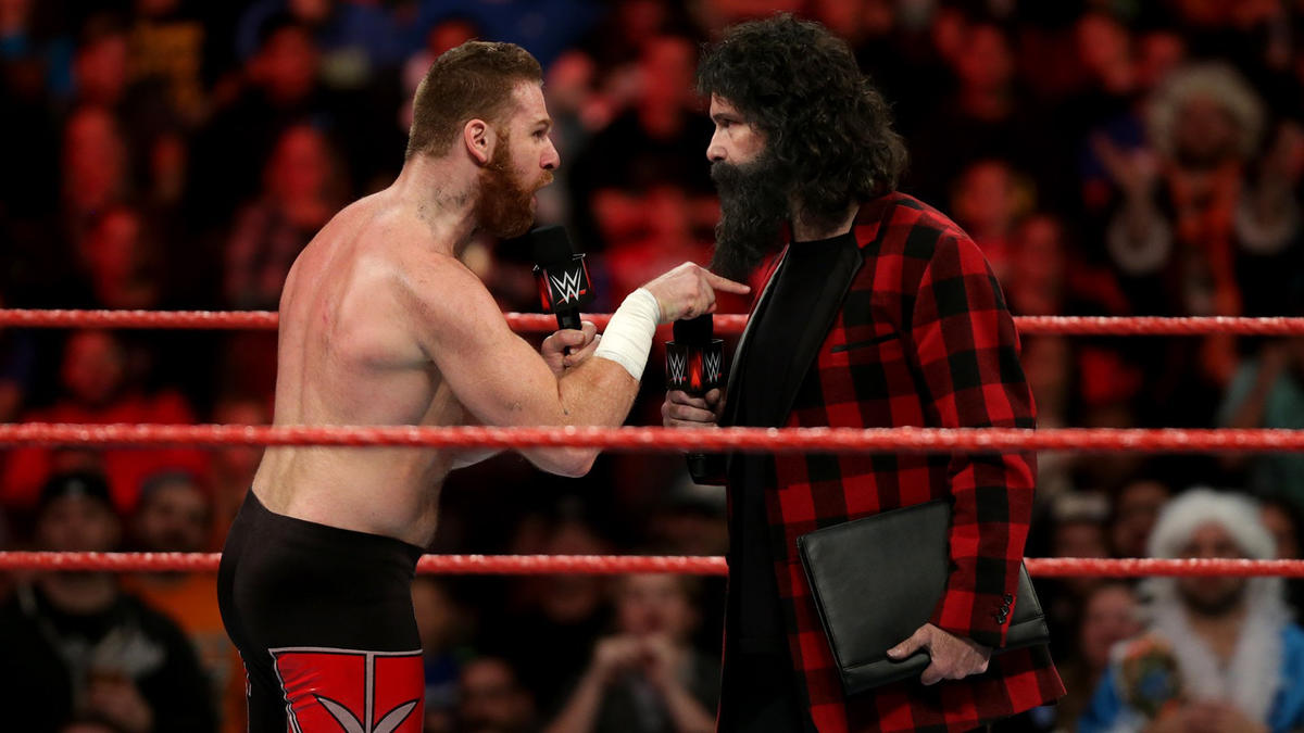He demands Foley give him a match against Braun Strowman at Roadblock: End of the Line.
