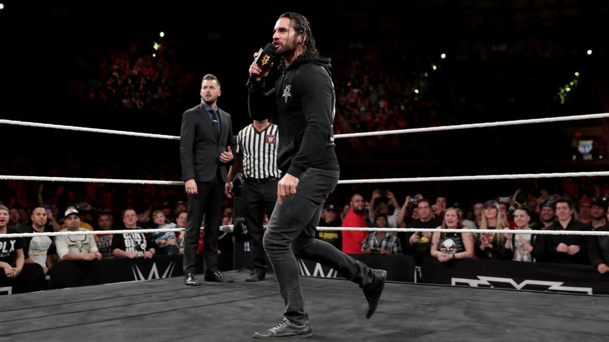 Seth Rollins crashed NXT TakeOver: San Antonio to call out Triple H.