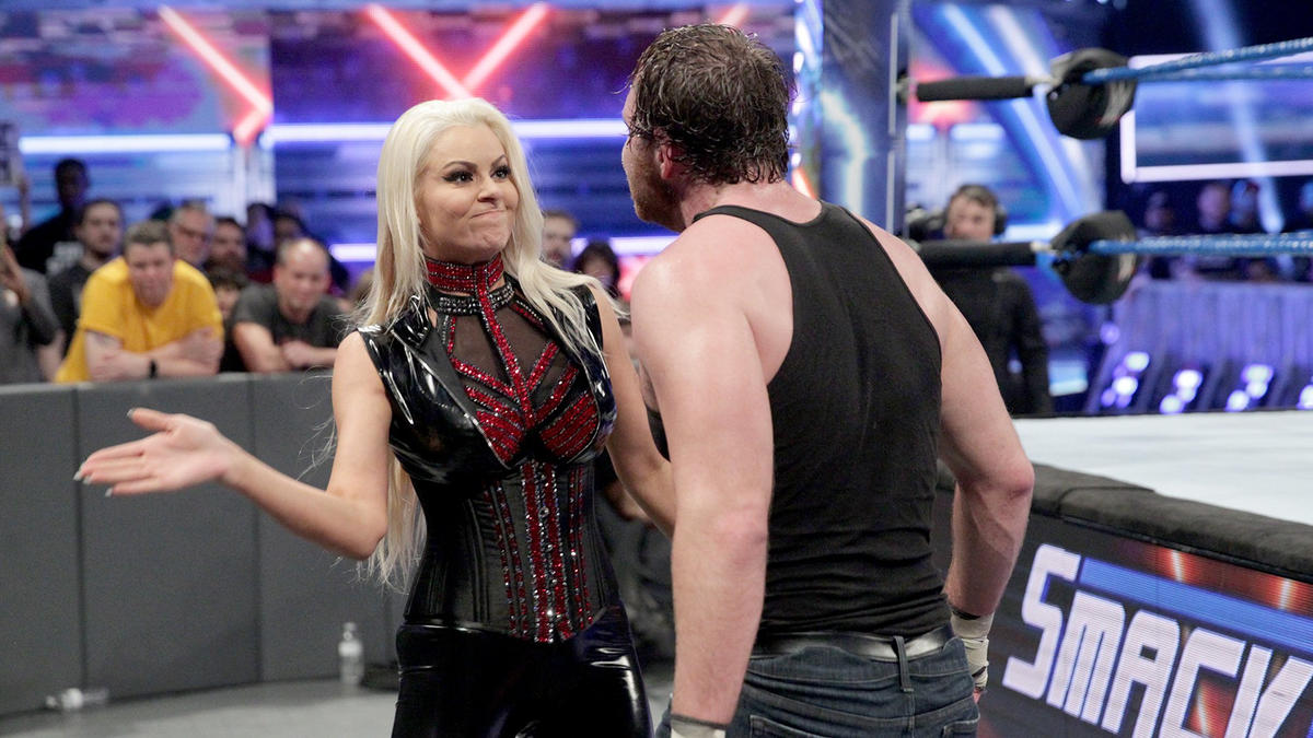 Maryse gets in Ambrose's face again.