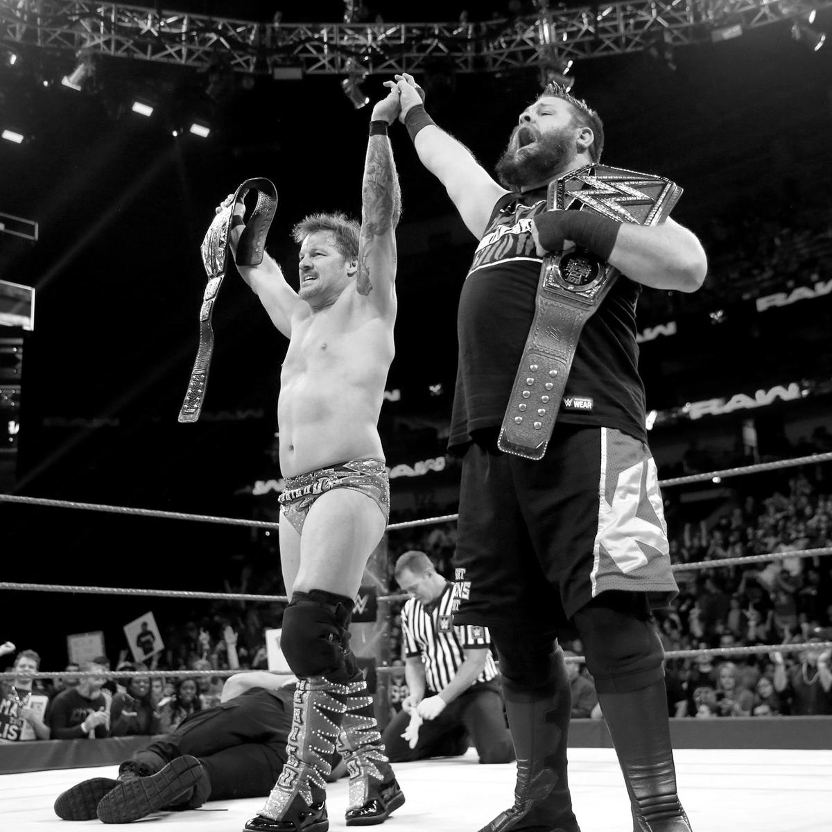 Jericho stands tall as the new U.S. Champion.