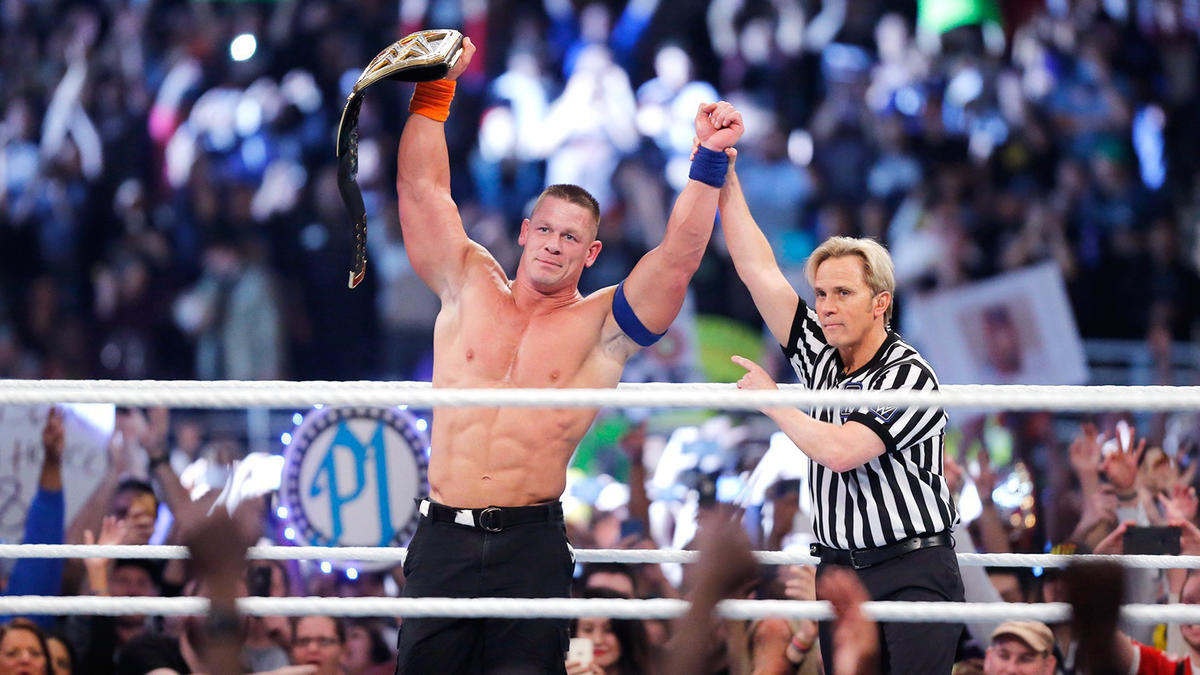 History is made. In front of more than 52,000 in the Alamodome, John Cena defeats AJ Styles, tying Ric Flair's record as a 16-time World Champion.