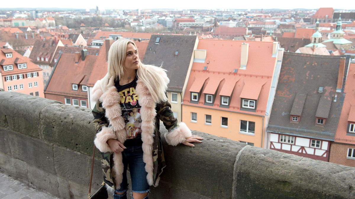 Wwe superstars visit nrnberg germany photos wwe lana takes in the sights of beautiful nrnberg germany before she and rusev head wwe photo m4hsunfo