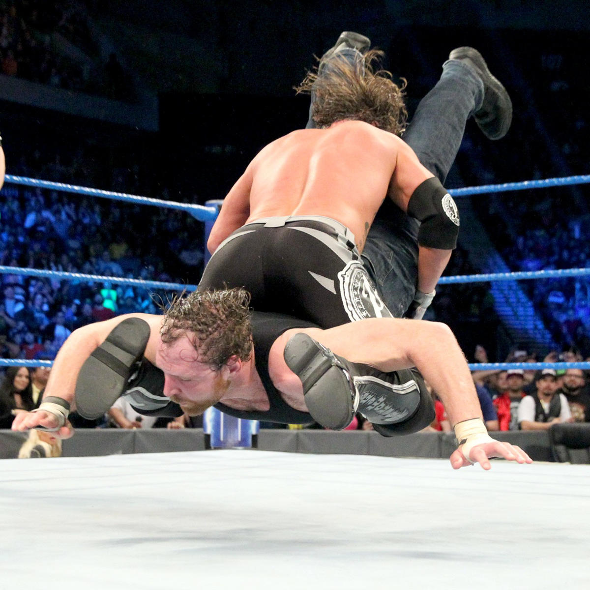 This allows Styles to capitalize with the Styles Clash on Ambrose for the win.