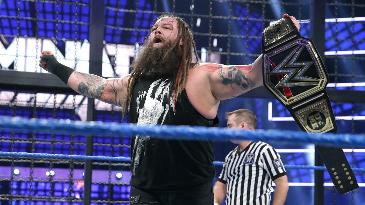 ... but Wyatt catches Styles in mid-Phenomenal Forearm to deliver Sister Abigail and capture the WWE Championship.