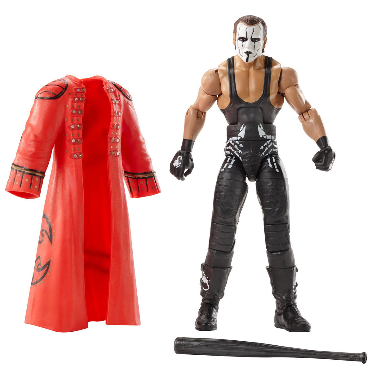 Sting with WrestleMania 31 attire, trademark baseball bat and entrance coat (WWE Hall of Fame Class of 2016)
