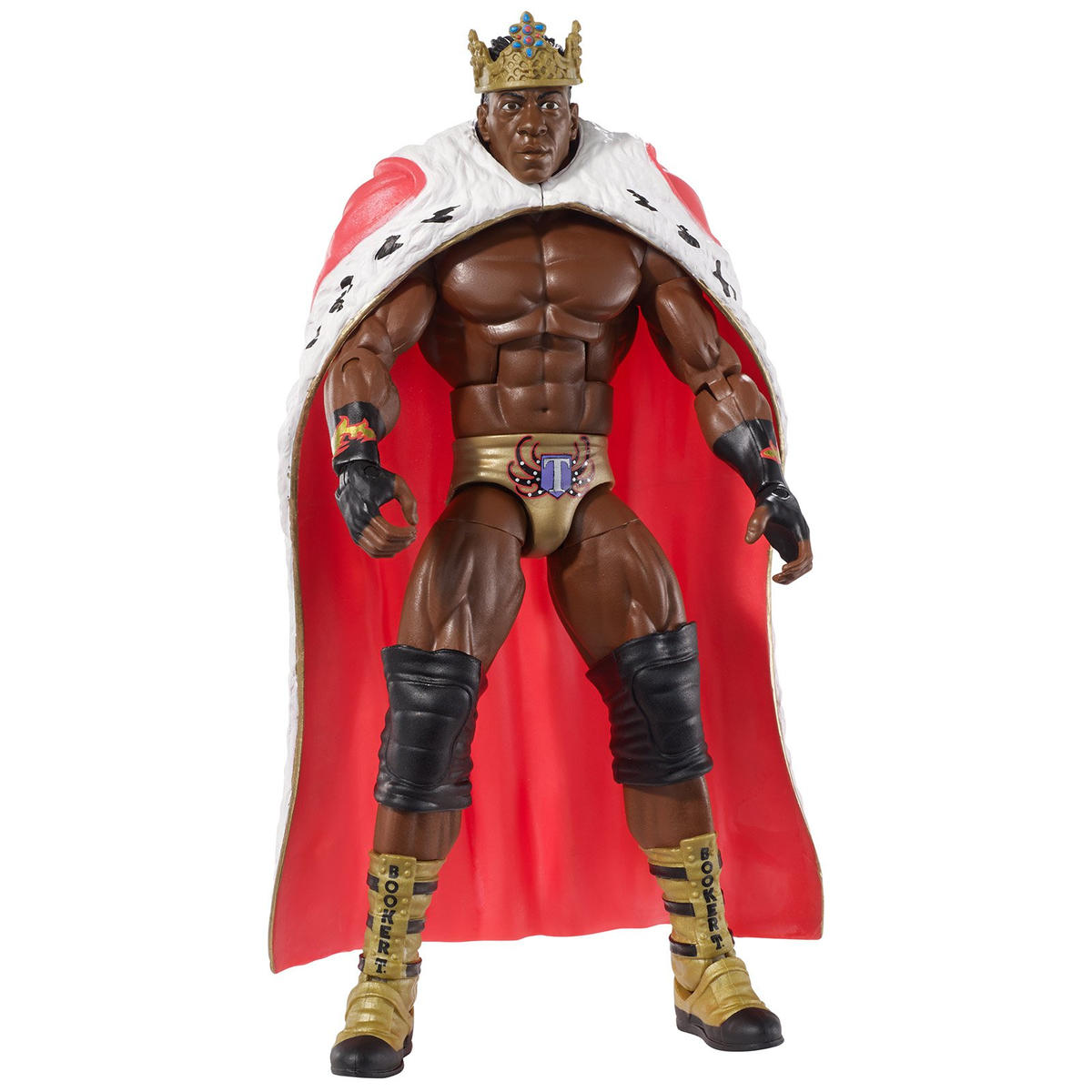 King Booker, with entrance cape, crown and scepter (WWE Hall of Fame Class of 2013)