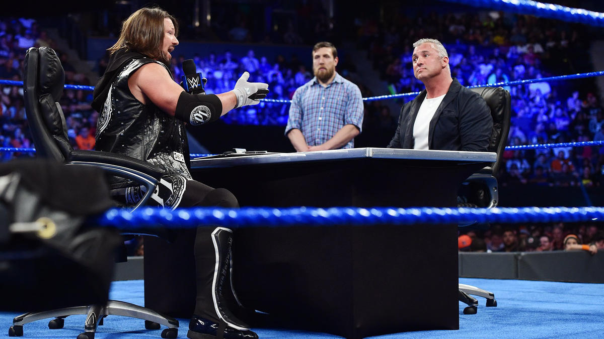 Styles tells Shane he won't be able to rely on ladders and cells in their match at WrestleMania.