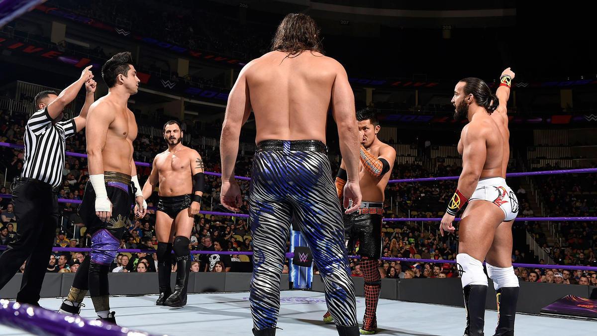 Austin Aries vs. TJ Perkins vs. Akira Tozawa vs. The Brian Kendrick vs. Tony Nese – Fatal 5-Way Elimination Match to determine the No. 1 contender for the WWE Cruiserweight Chamionship.