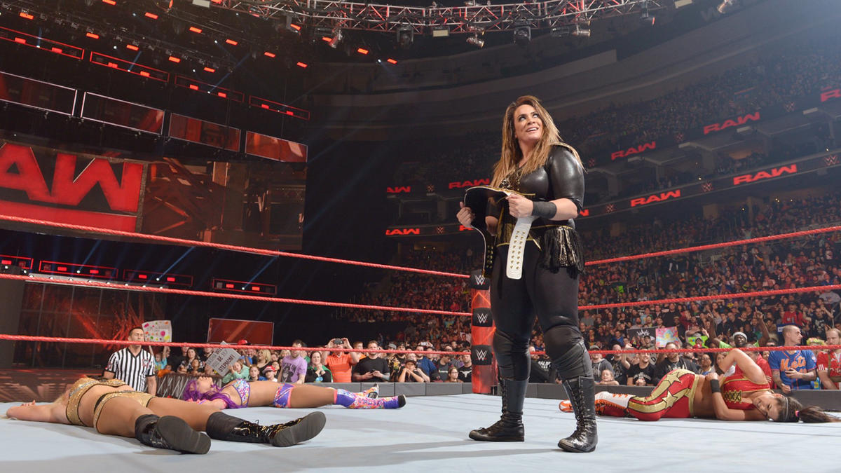 Jax stands tall with the Raw Women's Championship after laying out her competition.