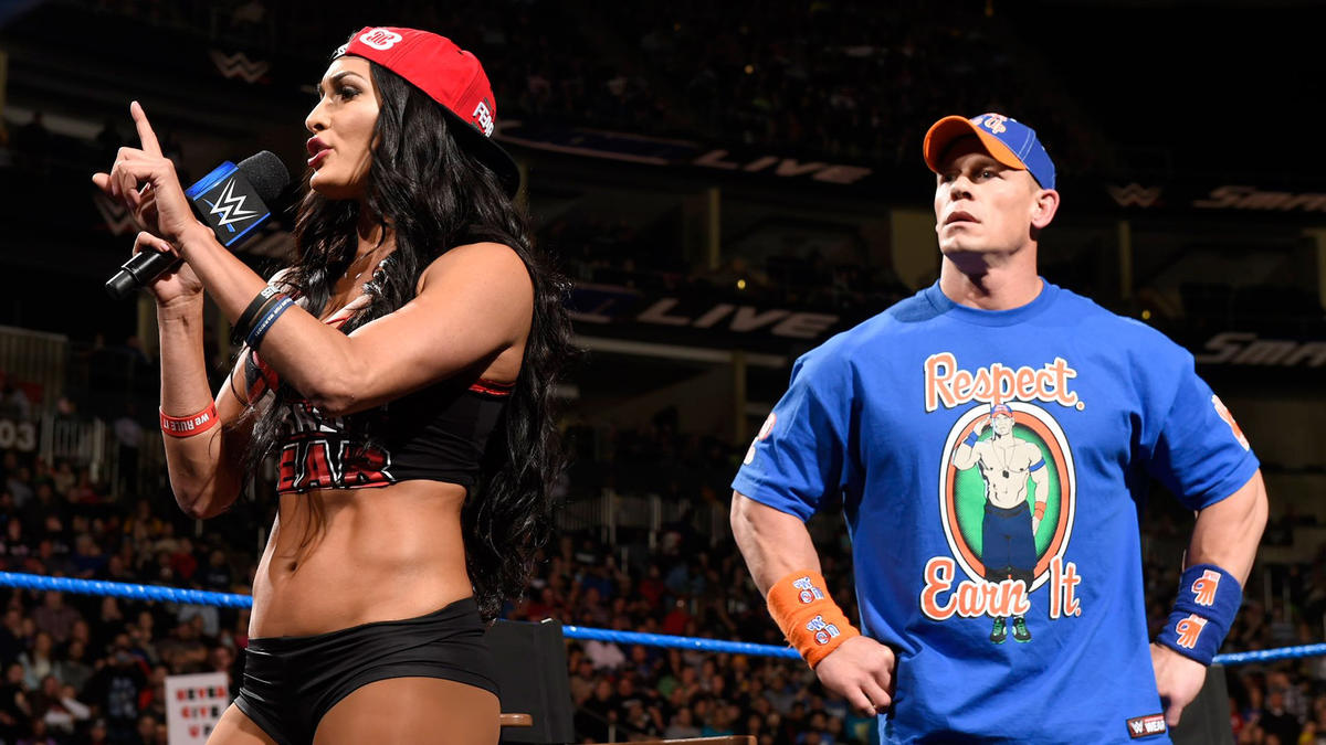 """Nikki says she and Maryse were never best friends, that she stabbed her in the back! Then she tells Maryse to step into the ring """"like a real woman."""""""