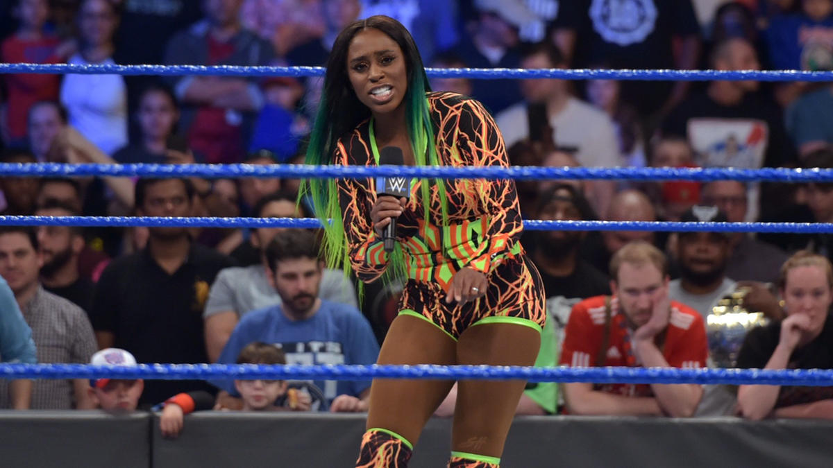 Naomi announces that she will join the SmackDown Women's Championship Match at WrestleMania...