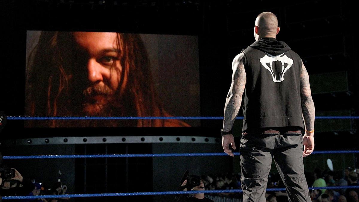 Bray Wyatt addresses The Viper from The Wyatt Family Compound.