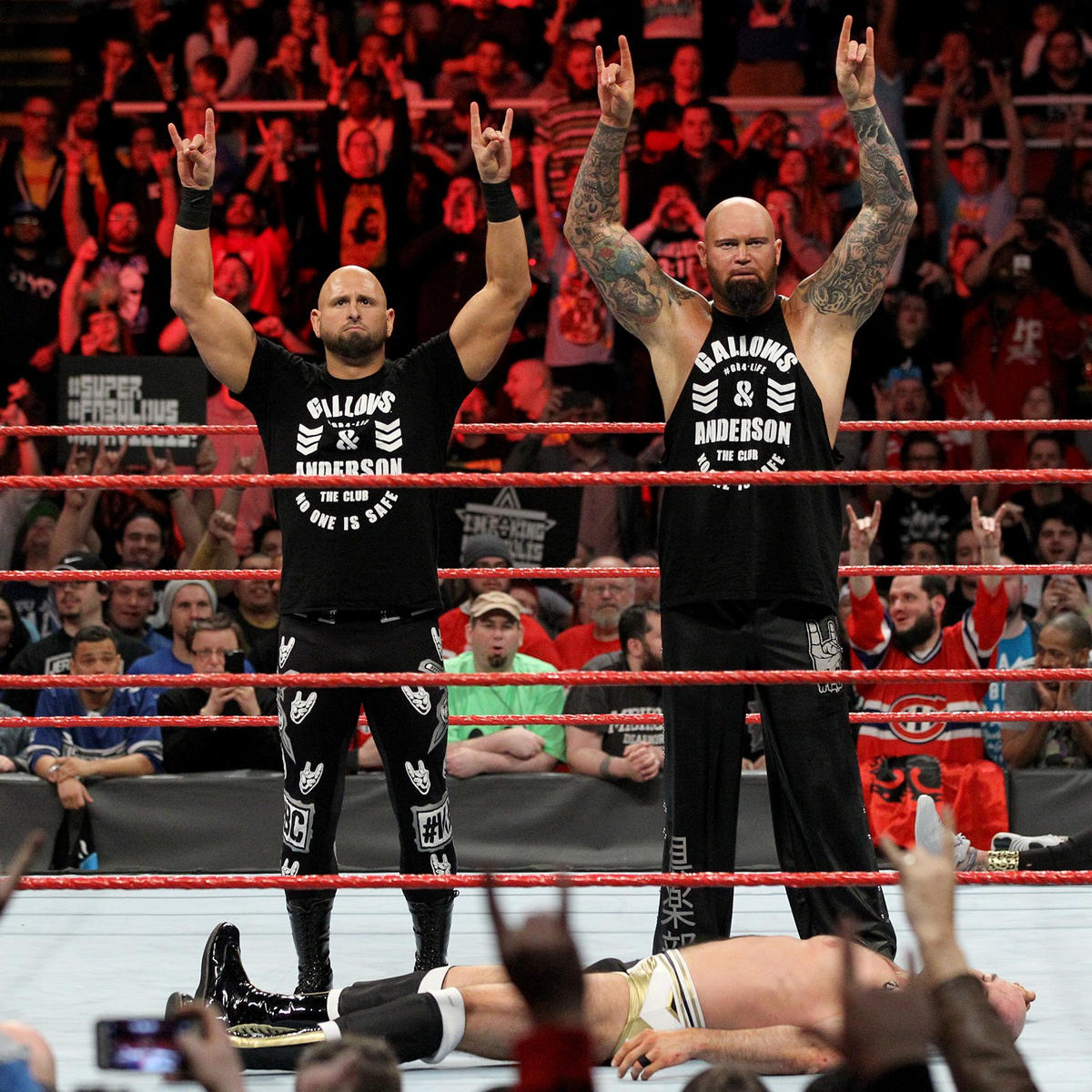 Anderson & Gallows stand tall after their sneak attack, but Raw General Manager Mick Foley would inform the duo that they will be defending the Raw Tag Team Championships in a Triple Threat Match at WrestleMania.