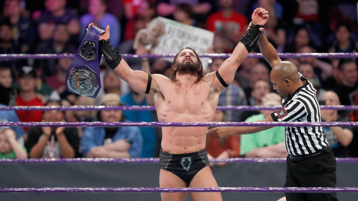 The King of the Crusierweights recovers and executes the Red Arrow to retain the WWE Cruiserweight Championship.