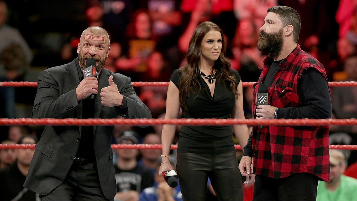Triple H takes offense to Foley saying the show would be better without Stephanie.