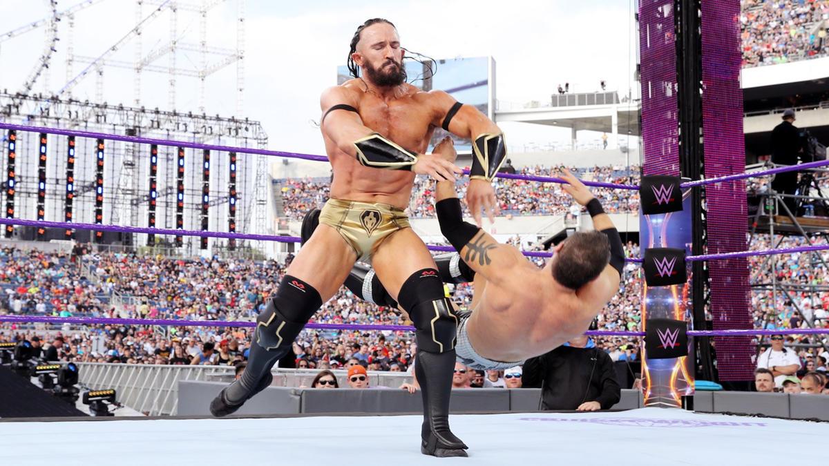 Neville vs. Austin Aries – WWE Cruiserweight Championship Match ( WrestleMania Kickoff Match): photos | WWE