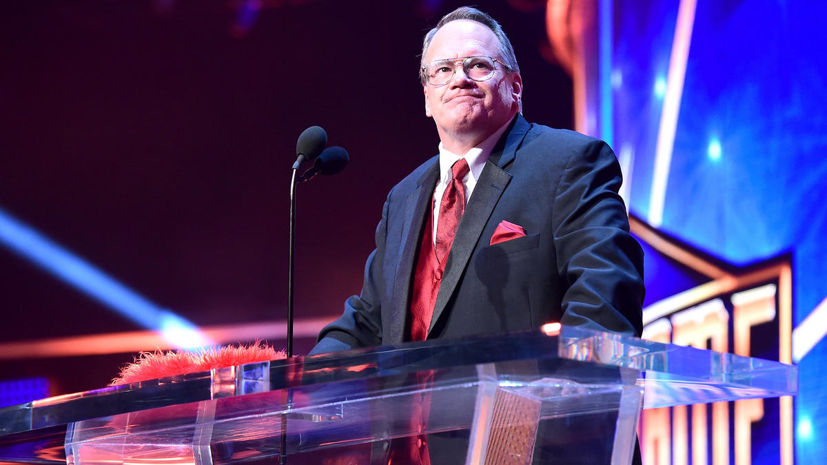 Jim Cornette approaches the live mic ...