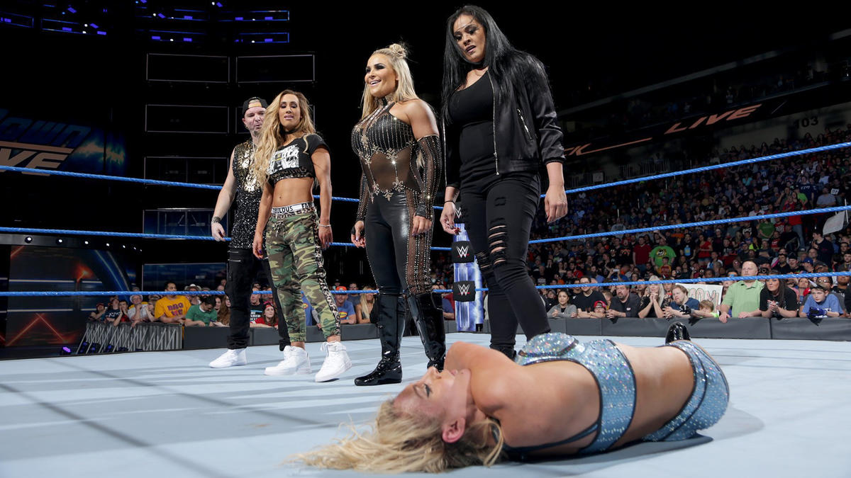Image result for smackdown carmella natty tamina