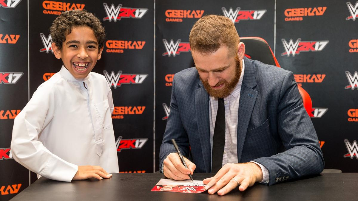 Sami zayn meets the wwe universe in dubai photos wwe wwe photo kristyandbryce Choice Image