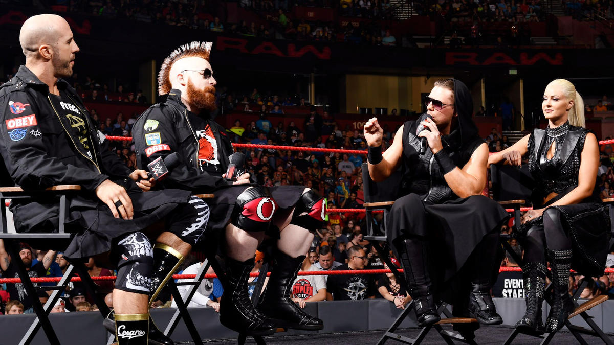 """Six days from challenging The Hardy Boyz for the Raw Tag Team Championship, Cesaro & Sheamus are guests on """"Miz TV."""""""