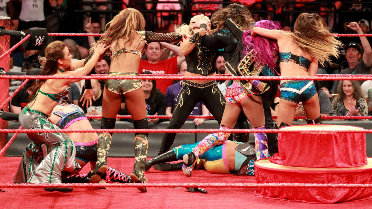 ... and the previously-announced tag team match becomes an Eight-Woman Tag Team Match.