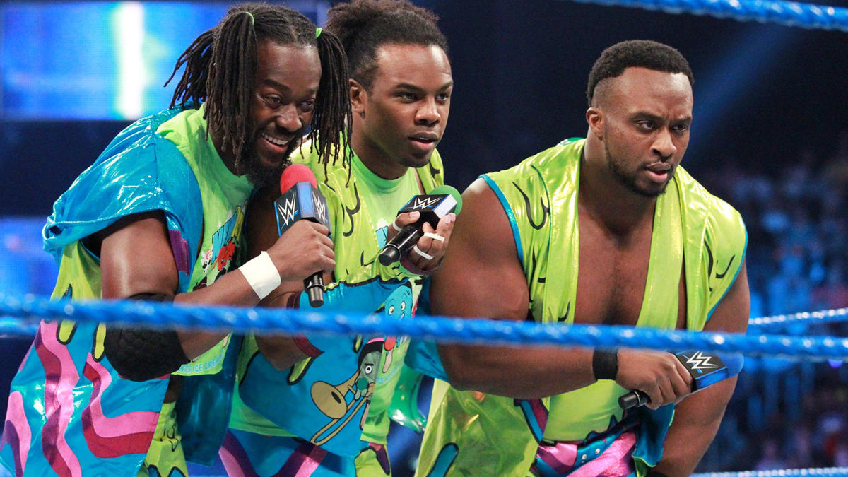 The New Day stares down The Usos...