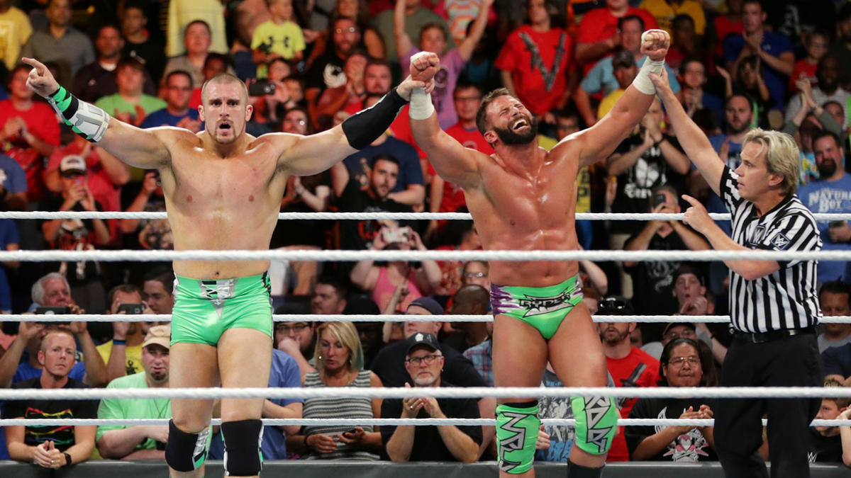 The Hype Bros are victorious in Ryder's return match.