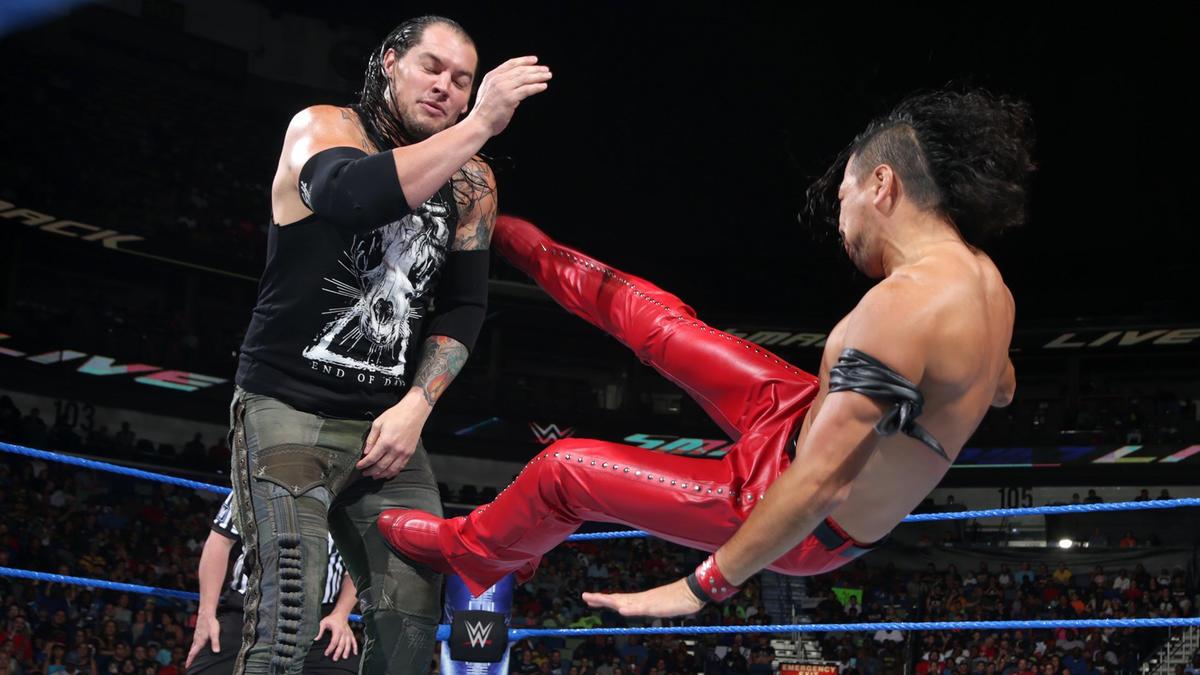 Image result for Shinsuke Nakamura vs Baron Corbin
