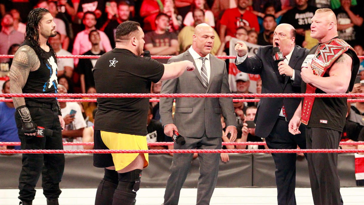 Heyman is adamant that Joe will never again be allowed to challenge Brock...
