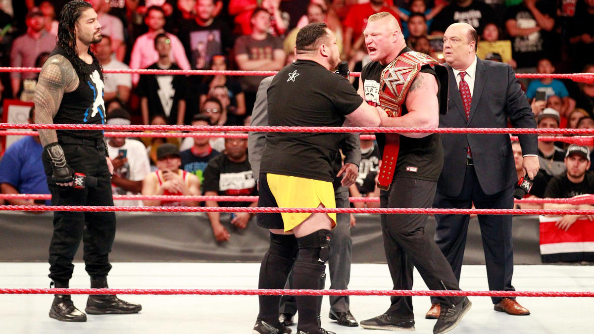 ... and The Samoan Submission Machine tells The Beast that Heyman knows he has Brock's number.