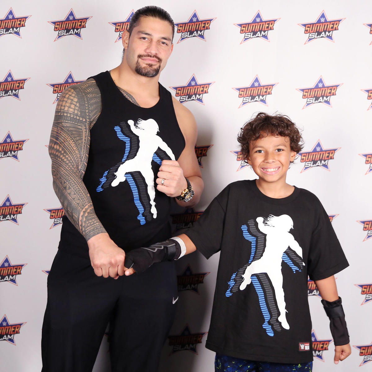 Roman reigns and the new day meet the wwe universe in a summerslam ready to go head to head with brock lesnar braun strowman and samoa wwe photo kristyandbryce Image collections