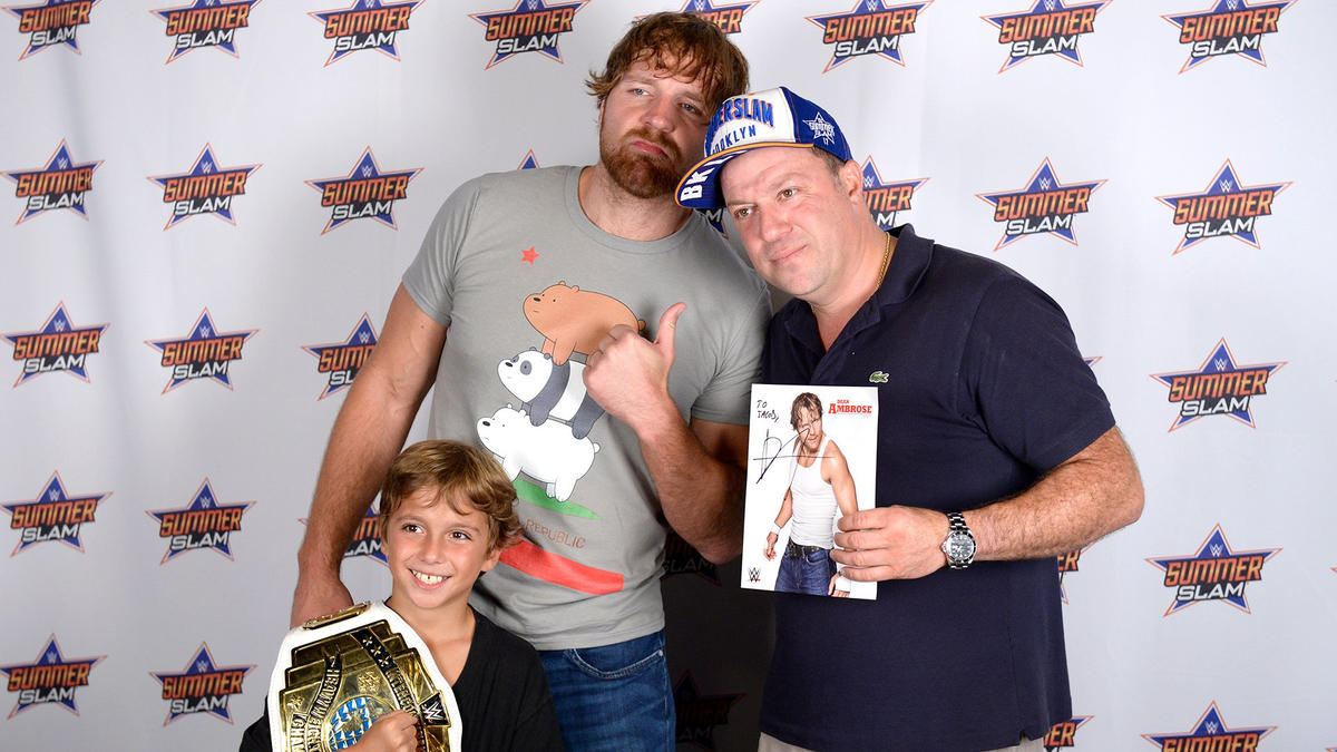 Aj styles and dean ambrose engage the fans in a special summerslam wwe photo kristyandbryce Image collections