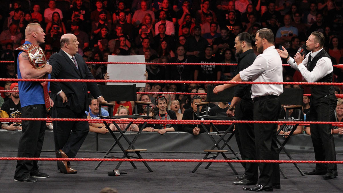"""When my hand goes up, your mouth goes shut!"" Miz says to Paul Heyman."