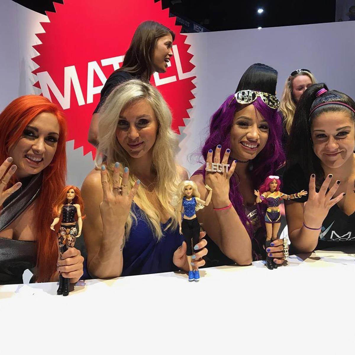 Becky Lynch, Charlotte, Sasha Banks and Bayley