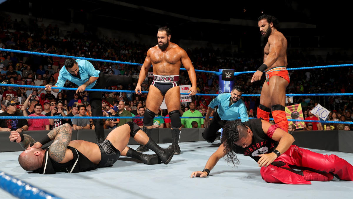 Rusev appears out of nowhere to lay out The Viper!