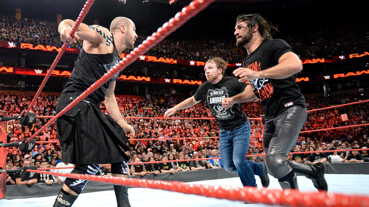 Ambrose & Rollins clear the ring!