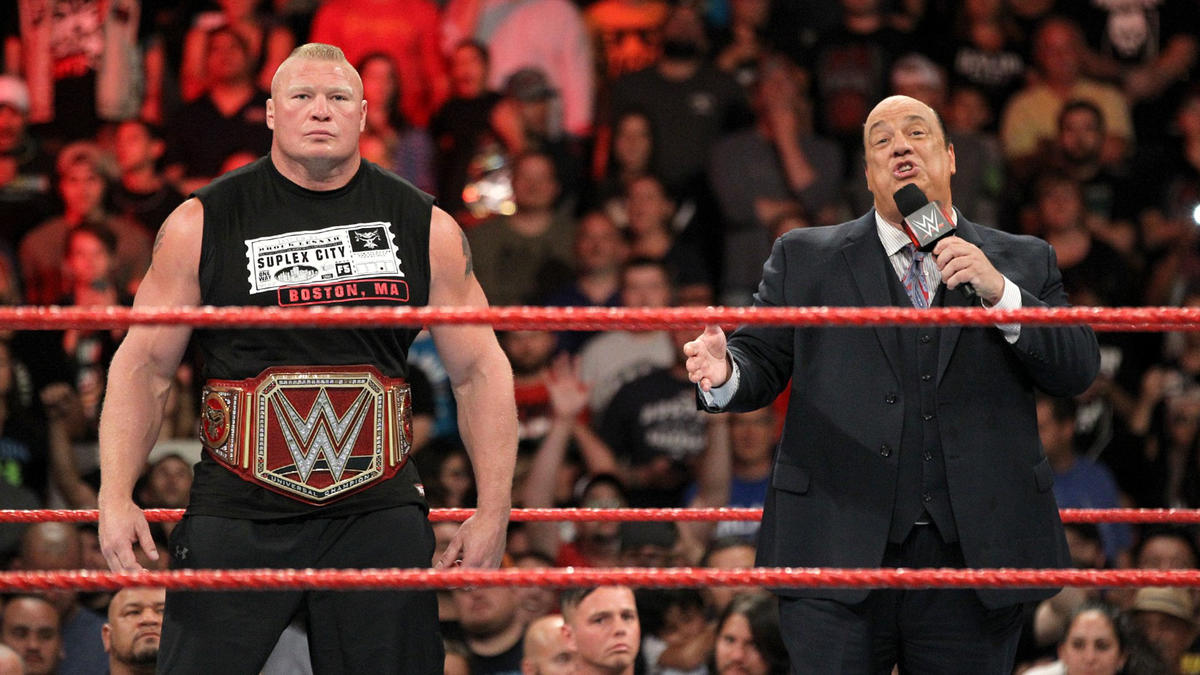 Paul Heyman and Universal Champion Brock Lesnar hit the squared circle...